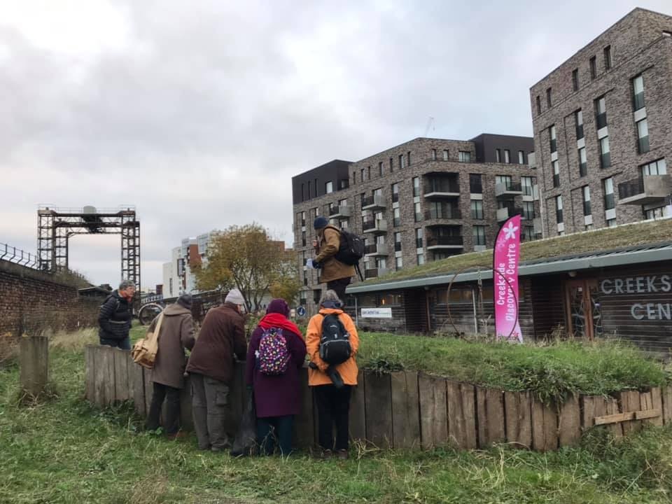 We finished the hunt at Creekside Discovery Centre - the grand total was 71 species of wildflower currently in flower in Deptford in December 1st