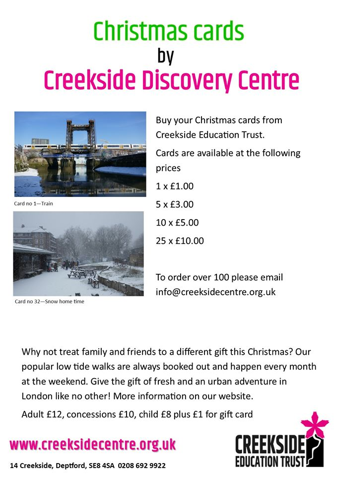 Christmas cards from Creekside Discovery Centre